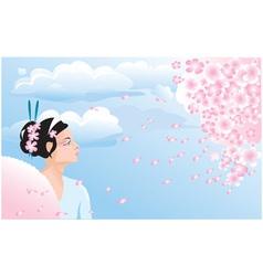 Sakura blossom vector