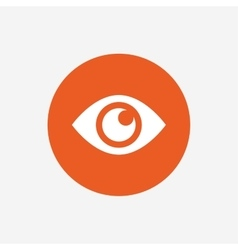 Eye sign icon publish content button vector