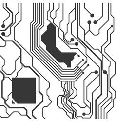 Circuit board icon technology design vector