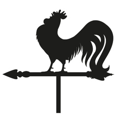 Rooster weather vane silhouette vector image