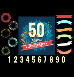 Anniversary celebration logo elements vector