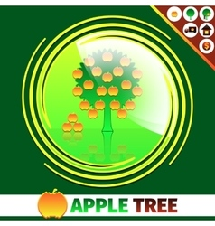 Apple orchard logo design vector
