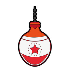 Ball tree decoration christmas related icon image vector