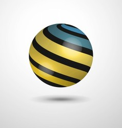 Ball with stripes vector image vector image