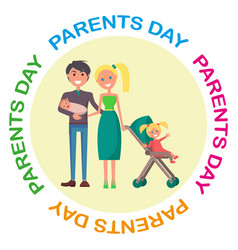 banner devoted to parent s day with inscription vector image