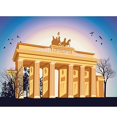 Brandenburg gate vector