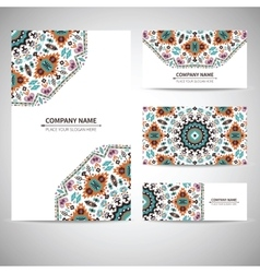 Business card template in vector image vector image