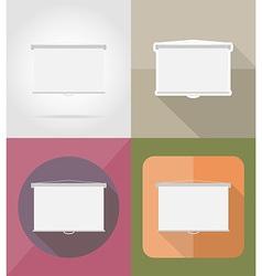 cinema flat icons 10 vector image
