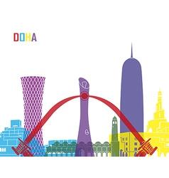 Doha skyline pop vector