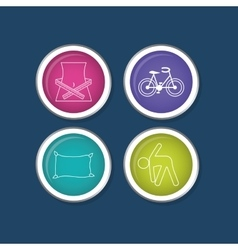 Fitness healthy lifestyle vector