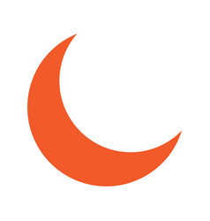 flat color crescent moon icon vector image vector image