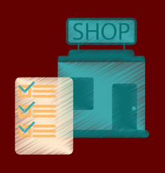 flat icon in shading style shop form vector image