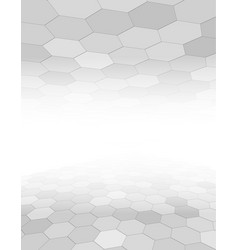 grey abstract background with hexagon pattern vector image