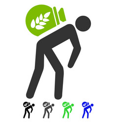 harvest porter flat icon vector image vector image