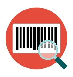 Identification barcode flat icon vector image vector image