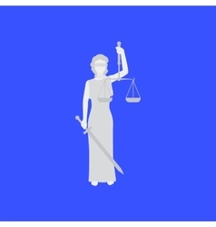 Law conceptual with woman vector