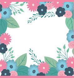 Multicolored decorative frame with beautiful vector