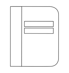 Notebook cover simple line vector