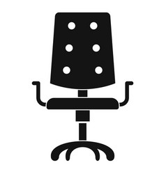 Office chair icon simple style vector