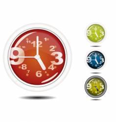 office wall clock vector image vector image