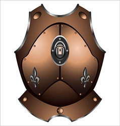 old iron cuirass vector image vector image