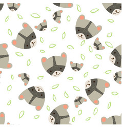 pattern raccoon vector image