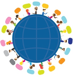People Talk Around the World vector image