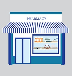Pharmacy drugstore shop vector image vector image