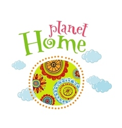 Planet home vector