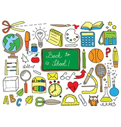 school doodle vector image vector image