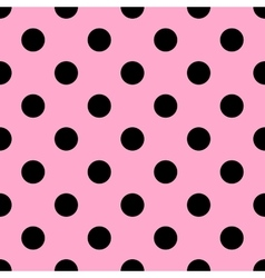 Seamless polka dot pattern vector image