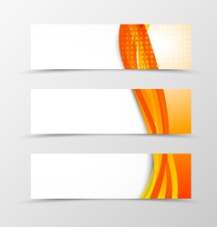 Set of orange banners vector image vector image
