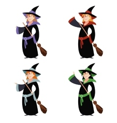 Set of witch women vector image vector image