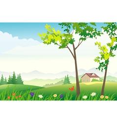 Spring or summer landscape vector