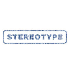 stereotype textile stamp vector image