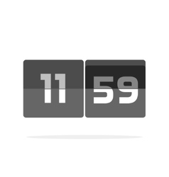 Timer counter icon countdown clock digits vector
