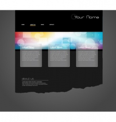 website template with circles vector image vector image