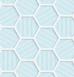 White 3D with colors hexagonal grid vector image vector image