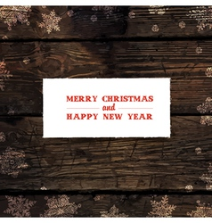 xmas design on hardwood planks texture vector image