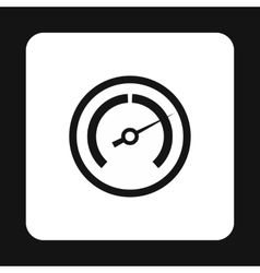 Tachometer icon in simple style vector