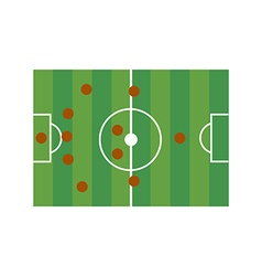 Football field 5-4-1 vector