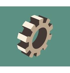 3d cog wheel vector