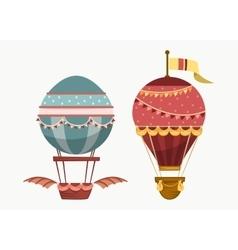 Balloon air travel flying transport vector