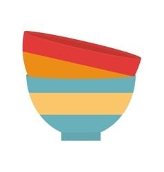 Two bowl kitchen ceramic design vector