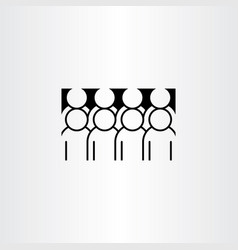 Group of people clipart icon vector