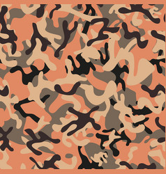 Creative woodland camouflage seamless patterns vector