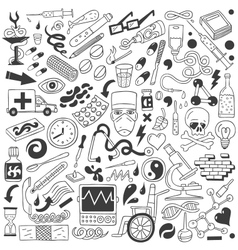 Medicine - doodles collection vector