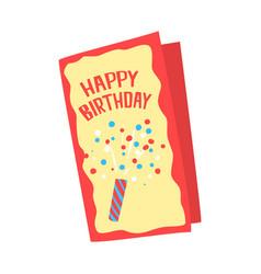 happy birthday card cartoon vector image