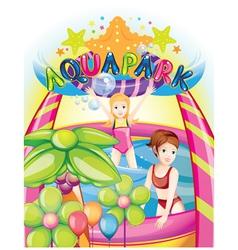 aqua park vector image