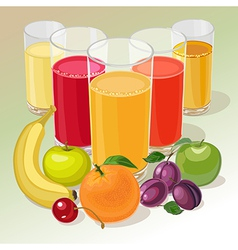 Fruit and juice vector